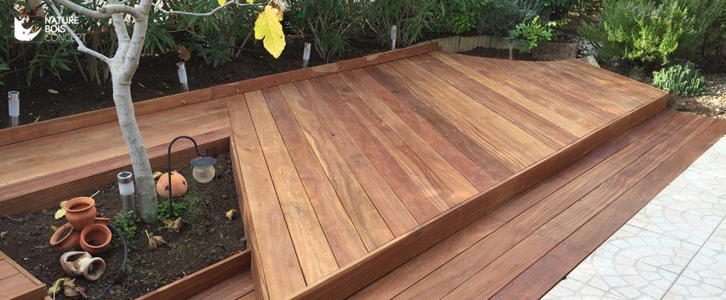 terrasse bois jardin bois cumaru exotique