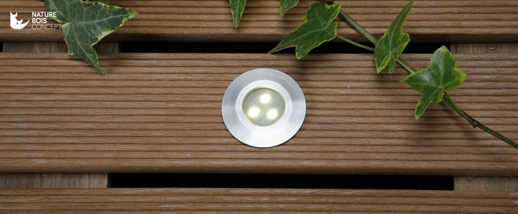 LED encastrable sur lame de terrasse bois