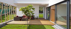 terrasse bois et maison