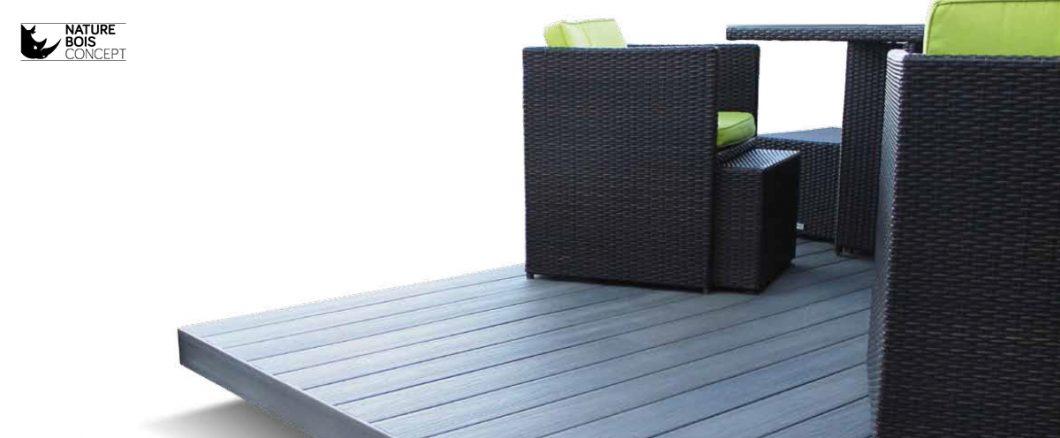 lames de bois composite fiberon gris