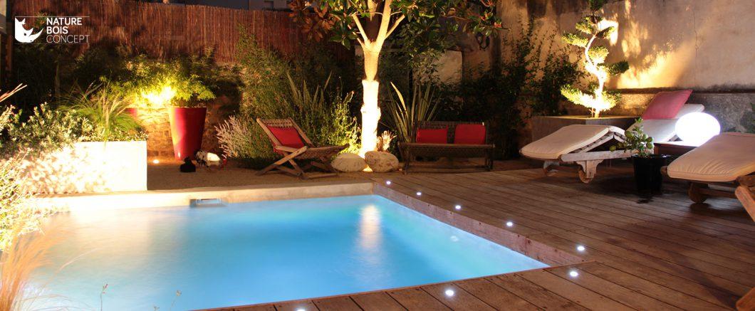 réalisation tour de piscine en bois cosy