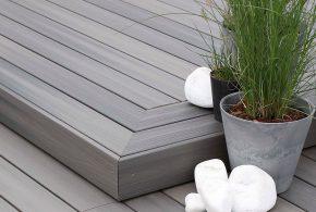 bois composite fiberdeck gris