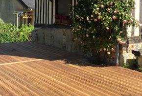 terrasse double structure en bois