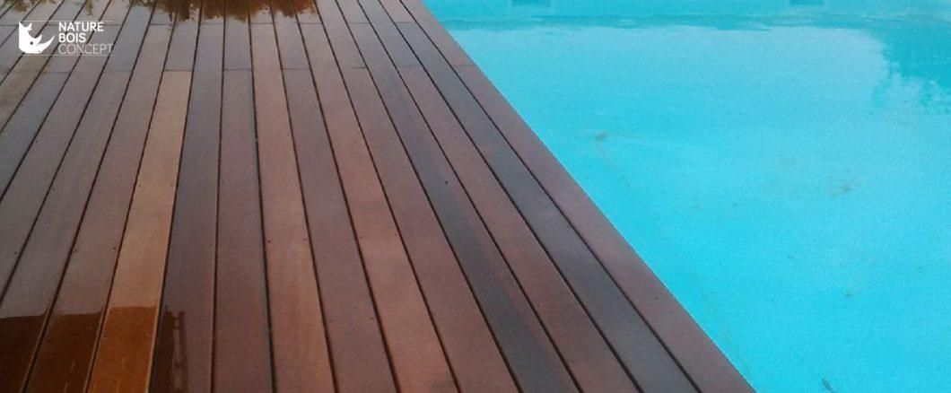 terrasse en bord de piscine bois exotique itauba