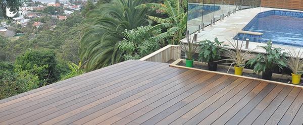 terrasse bois traité par thermo chauffage