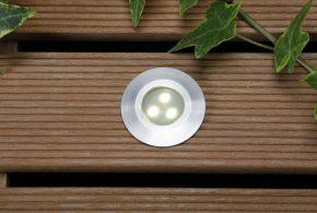 lampes LED encastrable sur terrasse