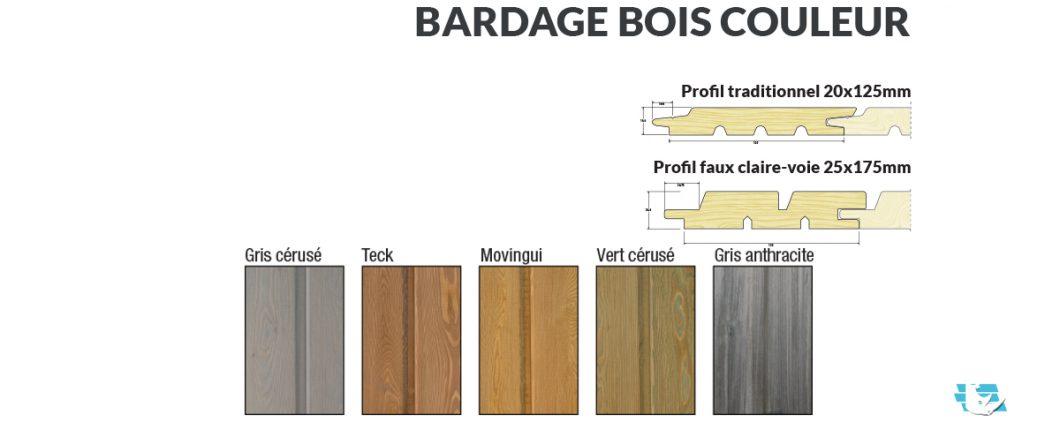 bardage bois couleurs