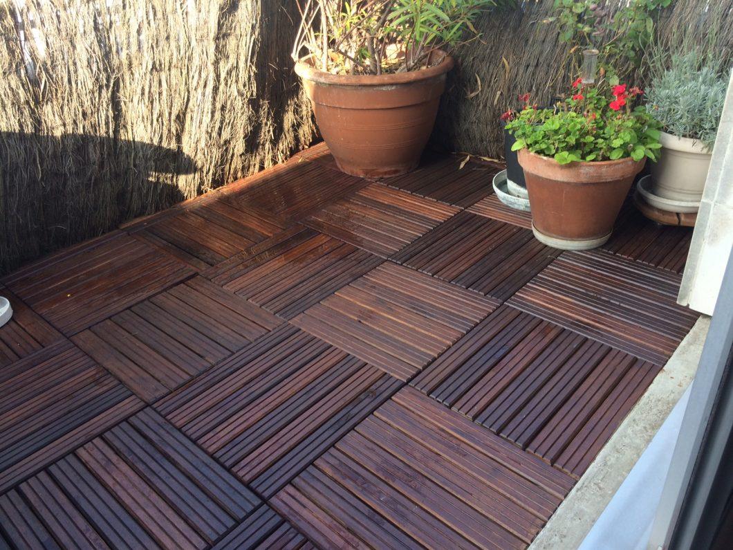Terrasse bois en Padouk.