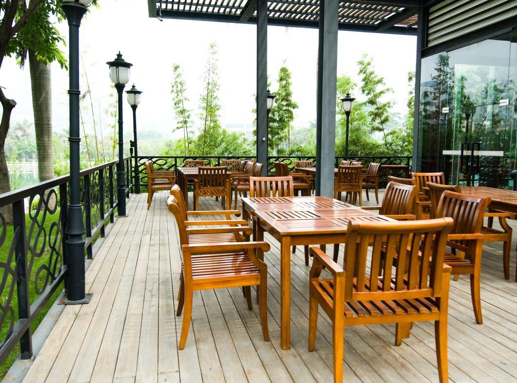 Terrasse en bois de Garapa.