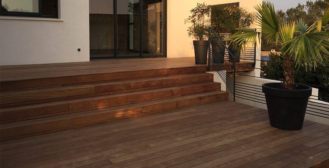 Terrasse et escalier