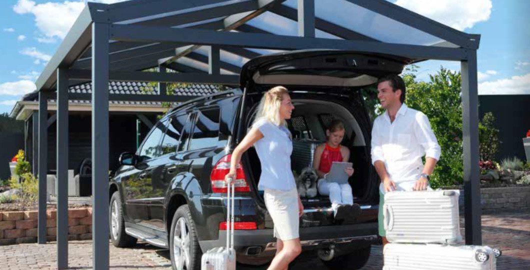 Installation carport pour monospace ou SUV