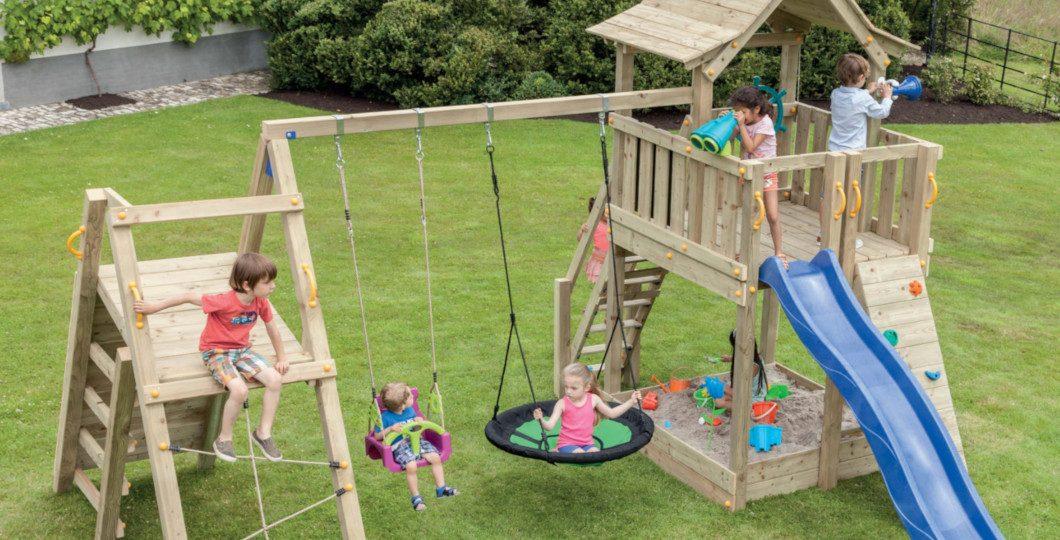 Aire de jeux en bois pour enfants - Blue rabbit - Eden partenaire