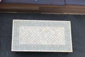 Terrasse aménagée en dalles padouk