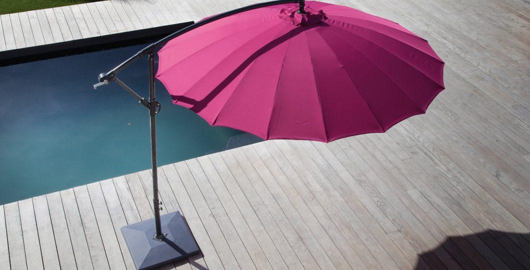 Parasol terrasse bois