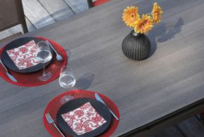 Ensemble salon de jardin table Lift Teramo 180-235 chaises Ida Proloisirs
