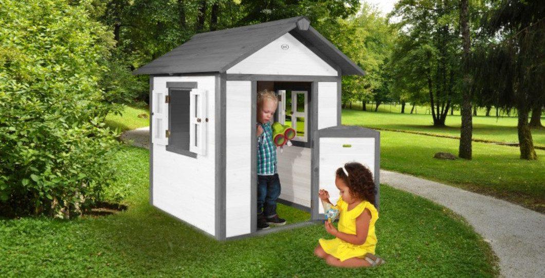 Aménagement d'une cabane en bois pour enfant - Lodge blanc - Axi